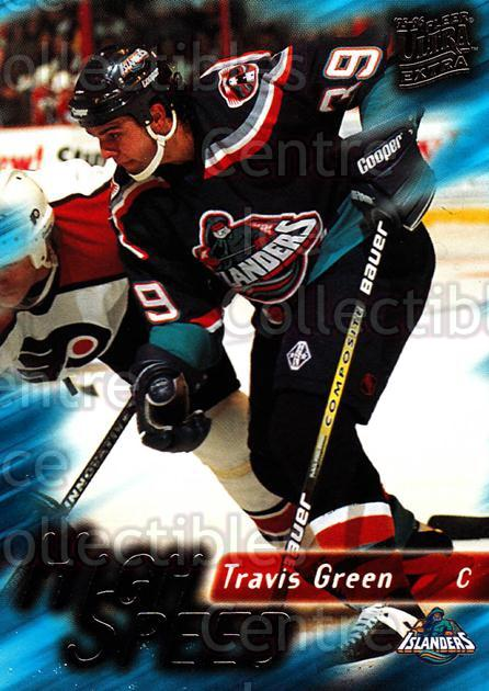 1995-96 Ultra High Speed #12 Travis Green<br/>7 In Stock - $2.00 each - <a href=https://centericecollectibles.foxycart.com/cart?name=1995-96%20Ultra%20High%20Speed%20%2312%20Travis%20Green...&quantity_max=7&price=$2.00&code=45279 class=foxycart> Buy it now! </a>