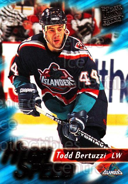 1995-96 Ultra High Speed #3 Todd Bertuzzi<br/>4 In Stock - $2.00 each - <a href=https://centericecollectibles.foxycart.com/cart?name=1995-96%20Ultra%20High%20Speed%20%233%20Todd%20Bertuzzi...&quantity_max=4&price=$2.00&code=45287 class=foxycart> Buy it now! </a>