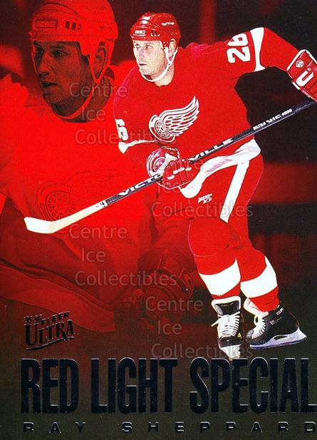 1995-96 Ultra Red Light Specials #9 Ray Sheppard<br/>24 In Stock - $2.00 each - <a href=https://centericecollectibles.foxycart.com/cart?name=1995-96%20Ultra%20Red%20Light%20Specials%20%239%20Ray%20Sheppard...&quantity_max=24&price=$2.00&code=45311 class=foxycart> Buy it now! </a>