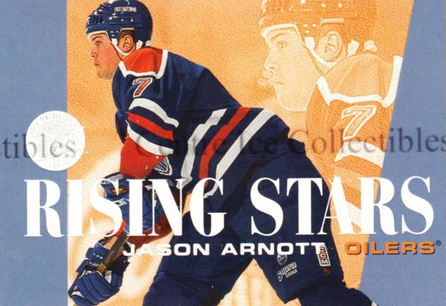 1995-96 Ultra Rising Stars Gold Medallion #1 Jason Arnott<br/>2 In Stock - $3.00 each - <a href=https://centericecollectibles.foxycart.com/cart?name=1995-96%20Ultra%20Rising%20Stars%20Gold%20Medallion%20%231%20Jason%20Arnott...&quantity_max=2&price=$3.00&code=45312 class=foxycart> Buy it now! </a>