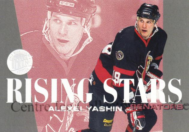 1995-96 Ultra Rising Stars Gold Medallion #9 Alexei Yashin<br/>9 In Stock - $3.00 each - <a href=https://centericecollectibles.foxycart.com/cart?name=1995-96%20Ultra%20Rising%20Stars%20Gold%20Medallion%20%239%20Alexei%20Yashin...&quantity_max=9&price=$3.00&code=45320 class=foxycart> Buy it now! </a>