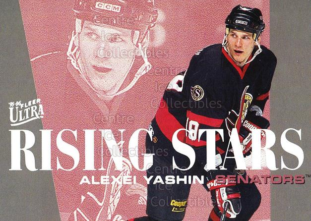 1995-96 Ultra Rising Stars #9 Alexei Yashin<br/>14 In Stock - $2.00 each - <a href=https://centericecollectibles.foxycart.com/cart?name=1995-96%20Ultra%20Rising%20Stars%20%239%20Alexei%20Yashin...&quantity_max=14&price=$2.00&code=45329 class=foxycart> Buy it now! </a>