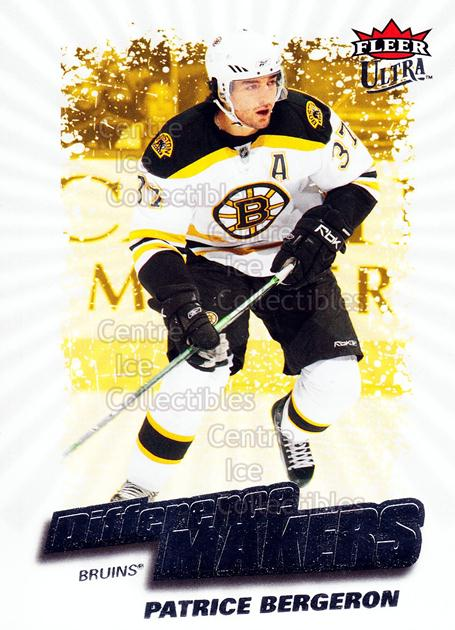 2008-09 Ultra Difference Makers #17 Patrice Bergeron<br/>3 In Stock - $2.00 each - <a href=https://centericecollectibles.foxycart.com/cart?name=2008-09%20Ultra%20Difference%20Makers%20%2317%20Patrice%20Bergero...&quantity_max=3&price=$2.00&code=453484 class=foxycart> Buy it now! </a>
