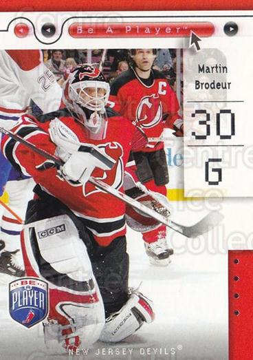 2005-06 Be A Player #52 Martin Brodeur<br/>1 In Stock - $2.00 each - <a href=https://centericecollectibles.foxycart.com/cart?name=2005-06%20Be%20A%20Player%20%2352%20Martin%20Brodeur...&quantity_max=1&price=$2.00&code=453627 class=foxycart> Buy it now! </a>