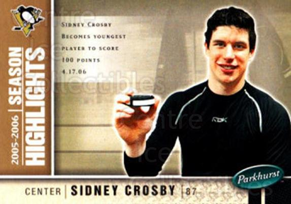 2005-06 Parkhurst #586 Sidney Crosby<br/>1 In Stock - $5.00 each - <a href=https://centericecollectibles.foxycart.com/cart?name=2005-06%20Parkhurst%20%23586%20Sidney%20Crosby...&price=$5.00&code=455117 class=foxycart> Buy it now! </a>