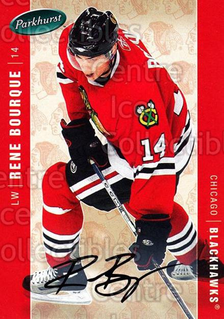 2005-06 Parkhurst Facsimile Auto #110 Rene Bourque<br/>1 In Stock - $5.00 each - <a href=https://centericecollectibles.foxycart.com/cart?name=2005-06%20Parkhurst%20Facsimile%20Auto%20%23110%20Rene%20Bourque...&quantity_max=1&price=$5.00&code=455155 class=foxycart> Buy it now! </a>