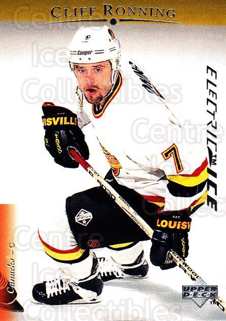 1995-96 Upper Deck Electric Ice #102 Cliff Ronning<br/>5 In Stock - $2.00 each - <a href=https://centericecollectibles.foxycart.com/cart?name=1995-96%20Upper%20Deck%20Electric%20Ice%20%23102%20Cliff%20Ronning...&quantity_max=5&price=$2.00&code=45515 class=foxycart> Buy it now! </a>
