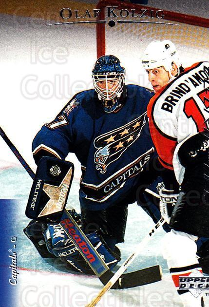 1995-96 Upper Deck Electric Ice #103 Olaf Kolzig<br/>3 In Stock - $2.00 each - <a href=https://centericecollectibles.foxycart.com/cart?name=1995-96%20Upper%20Deck%20Electric%20Ice%20%23103%20Olaf%20Kolzig...&quantity_max=3&price=$2.00&code=45516 class=foxycart> Buy it now! </a>