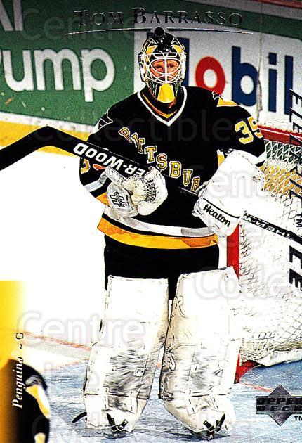 1995-96 Upper Deck Electric Ice #115 Tom Barrasso<br/>4 In Stock - $2.00 each - <a href=https://centericecollectibles.foxycart.com/cart?name=1995-96%20Upper%20Deck%20Electric%20Ice%20%23115%20Tom%20Barrasso...&quantity_max=4&price=$2.00&code=45527 class=foxycart> Buy it now! </a>