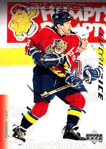 1995-96 Upper Deck Electric Ice #129 Johan Garpenlov<br/>6 In Stock - $2.00 each - <a href=https://centericecollectibles.foxycart.com/cart?name=1995-96%20Upper%20Deck%20Electric%20Ice%20%23129%20Johan%20Garpenlov...&quantity_max=6&price=$2.00&code=45542 class=foxycart> Buy it now! </a>