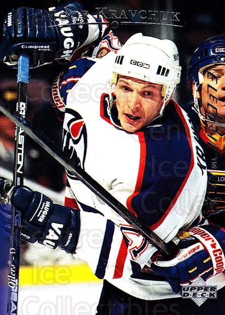 1995-96 Upper Deck Electric Ice #146 Igor Kravchuk<br/>6 In Stock - $2.00 each - <a href=https://centericecollectibles.foxycart.com/cart?name=1995-96%20Upper%20Deck%20Electric%20Ice%20%23146%20Igor%20Kravchuk...&quantity_max=6&price=$2.00&code=45560 class=foxycart> Buy it now! </a>