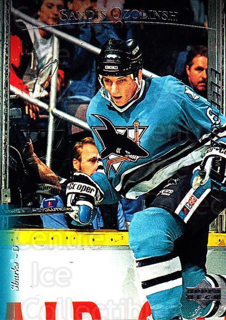 1995-96 Upper Deck Electric Ice #168 Sandis Ozolinsh<br/>3 In Stock - $2.00 each - <a href=https://centericecollectibles.foxycart.com/cart?name=1995-96%20Upper%20Deck%20Electric%20Ice%20%23168%20Sandis%20Ozolinsh...&quantity_max=3&price=$2.00&code=45584 class=foxycart> Buy it now! </a>