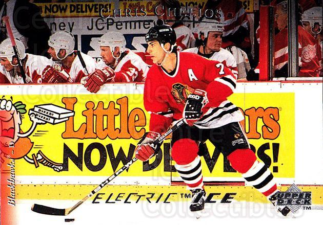 1995-96 Upper Deck Electric Ice #170 Chris Chelios<br/>5 In Stock - $2.00 each - <a href=https://centericecollectibles.foxycart.com/cart?name=1995-96%20Upper%20Deck%20Electric%20Ice%20%23170%20Chris%20Chelios...&quantity_max=5&price=$2.00&code=45587 class=foxycart> Buy it now! </a>