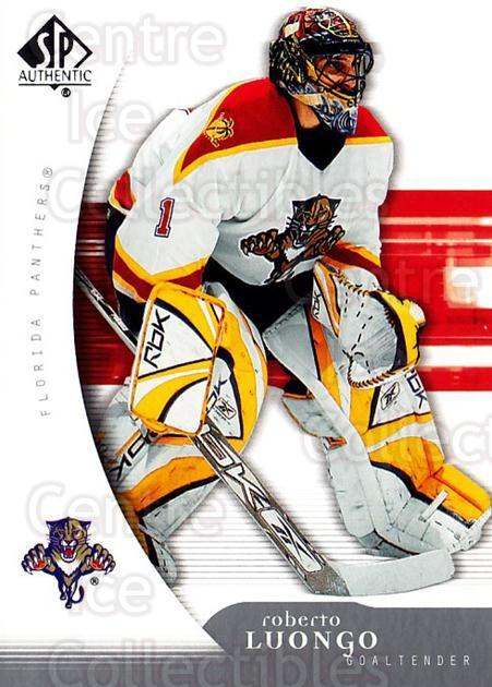 2005-06 SP Authentic #43 Roberto Luongo<br/>5 In Stock - $2.00 each - <a href=https://centericecollectibles.foxycart.com/cart?name=2005-06%20SP%20Authentic%20%2343%20Roberto%20Luongo...&quantity_max=5&price=$2.00&code=455884 class=foxycart> Buy it now! </a>