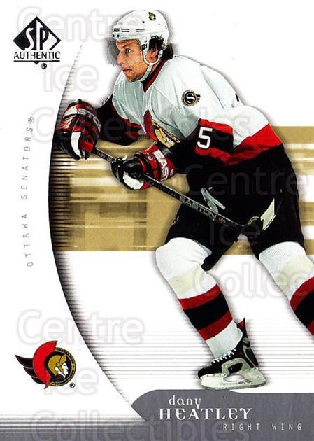 2005-06 SP Authentic #68 Dany Heatley<br/>3 In Stock - $1.00 each - <a href=https://centericecollectibles.foxycart.com/cart?name=2005-06%20SP%20Authentic%20%2368%20Dany%20Heatley...&quantity_max=3&price=$1.00&code=455909 class=foxycart> Buy it now! </a>