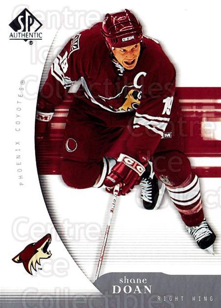 2005-06 SP Authentic #77 Shane Doan<br/>4 In Stock - $1.00 each - <a href=https://centericecollectibles.foxycart.com/cart?name=2005-06%20SP%20Authentic%20%2377%20Shane%20Doan...&quantity_max=4&price=$1.00&code=455918 class=foxycart> Buy it now! </a>