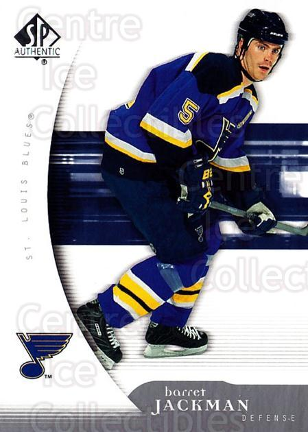 2005-06 SP Authentic #86 Barret Jackman<br/>5 In Stock - $1.00 each - <a href=https://centericecollectibles.foxycart.com/cart?name=2005-06%20SP%20Authentic%20%2386%20Barret%20Jackman...&quantity_max=5&price=$1.00&code=455927 class=foxycart> Buy it now! </a>
