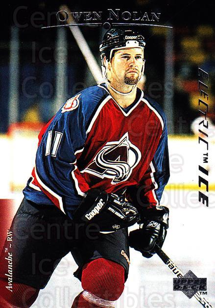 1995-96 Upper Deck Electric Ice #176 Owen Nolan<br/>6 In Stock - $2.00 each - <a href=https://centericecollectibles.foxycart.com/cart?name=1995-96%20Upper%20Deck%20Electric%20Ice%20%23176%20Owen%20Nolan...&quantity_max=6&price=$2.00&code=45592 class=foxycart> Buy it now! </a>