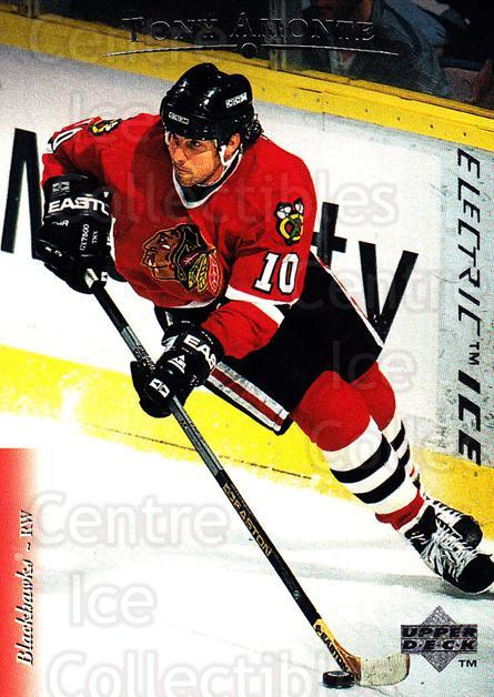 1995-96 Upper Deck Electric Ice #18 Tony Amonte<br/>5 In Stock - $2.00 each - <a href=https://centericecollectibles.foxycart.com/cart?name=1995-96%20Upper%20Deck%20Electric%20Ice%20%2318%20Tony%20Amonte...&quantity_max=5&price=$2.00&code=45596 class=foxycart> Buy it now! </a>