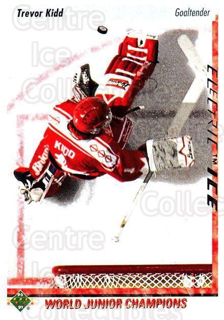 1995-96 Upper Deck Electric Ice #229 Trevor Kidd<br/>3 In Stock - $2.00 each - <a href=https://centericecollectibles.foxycart.com/cart?name=1995-96%20Upper%20Deck%20Electric%20Ice%20%23229%20Trevor%20Kidd...&quantity_max=3&price=$2.00&code=45643 class=foxycart> Buy it now! </a>