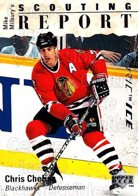 1995-96 Upper Deck Electric Ice #238 Chris Chelios<br/>3 In Stock - $2.00 each - <a href=https://centericecollectibles.foxycart.com/cart?name=1995-96%20Upper%20Deck%20Electric%20Ice%20%23238%20Chris%20Chelios...&quantity_max=3&price=$2.00&code=45649 class=foxycart> Buy it now! </a>