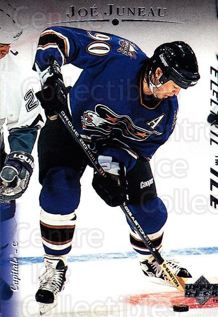 1995-96 Upper Deck Electric Ice #25 Joe Juneau<br/>4 In Stock - $2.00 each - <a href=https://centericecollectibles.foxycart.com/cart?name=1995-96%20Upper%20Deck%20Electric%20Ice%20%2325%20Joe%20Juneau...&quantity_max=4&price=$2.00&code=45659 class=foxycart> Buy it now! </a>