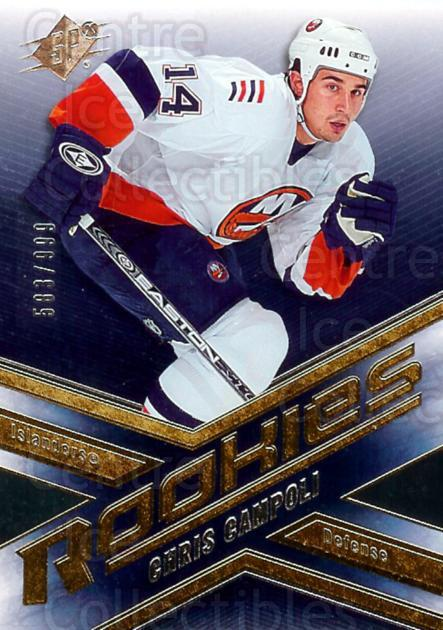 2005-06 Spx #197 Chris Campoli<br/>2 In Stock - $3.00 each - <a href=https://centericecollectibles.foxycart.com/cart?name=2005-06%20Spx%20%23197%20Chris%20Campoli...&quantity_max=2&price=$3.00&code=456858 class=foxycart> Buy it now! </a>