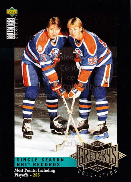 1995-96 Upper Deck Wayne Gretzky Collection #9 Wayne Gretzky, Jari Kurri<br/>12 In Stock - $3.00 each - <a href=https://centericecollectibles.foxycart.com/cart?name=1995-96%20Upper%20Deck%20Wayne%20Gretzky%20Collection%20%239%20Wayne%20Gretzky,%20...&quantity_max=12&price=$3.00&code=45695 class=foxycart> Buy it now! </a>