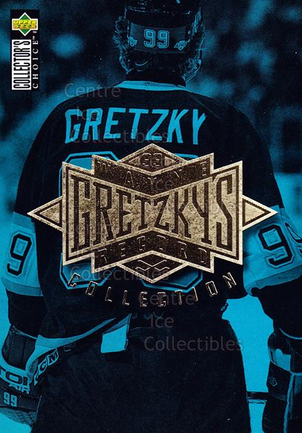 1995-96 Upper Deck Wayne Gretzky Collection #0 Header Card<br/>41 In Stock - $2.00 each - <a href=https://centericecollectibles.foxycart.com/cart?name=1995-96%20Upper%20Deck%20Wayne%20Gretzky%20Collection%20%230%20Header%20Card...&price=$2.00&code=45696 class=foxycart> Buy it now! </a>