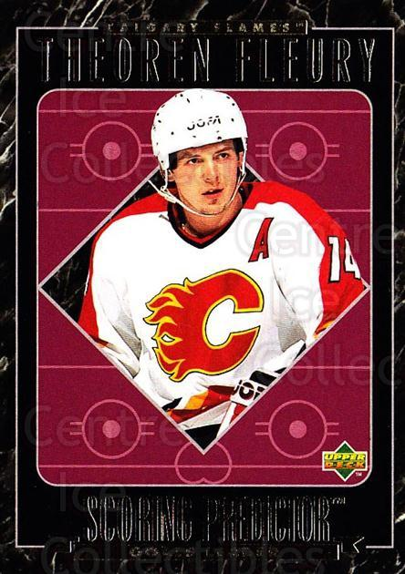 1995-96 Upper Deck Predictor Retail Redeemed #RR08 Theo Fleury<br/>18 In Stock - $2.00 each - <a href=https://centericecollectibles.foxycart.com/cart?name=1995-96%20Upper%20Deck%20Predictor%20Retail%20Redeemed%20%23RR08%20Theo%20Fleury...&quantity_max=18&price=$2.00&code=45758 class=foxycart> Buy it now! </a>