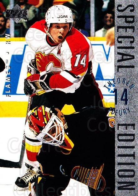 1995-96 Upper Deck Special Edition #101 Theo Fleury<br/>4 In Stock - $1.00 each - <a href=https://centericecollectibles.foxycart.com/cart?name=1995-96%20Upper%20Deck%20Special%20Edition%20%23101%20Theo%20Fleury...&quantity_max=4&price=$1.00&code=45850 class=foxycart> Buy it now! </a>