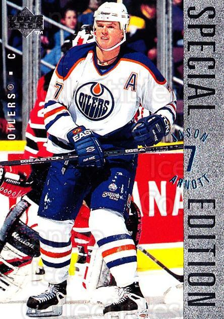 1995-96 Upper Deck Special Edition #119 Jason Arnott<br/>4 In Stock - $1.00 each - <a href=https://centericecollectibles.foxycart.com/cart?name=1995-96%20Upper%20Deck%20Special%20Edition%20%23119%20Jason%20Arnott...&quantity_max=4&price=$1.00&code=45867 class=foxycart> Buy it now! </a>