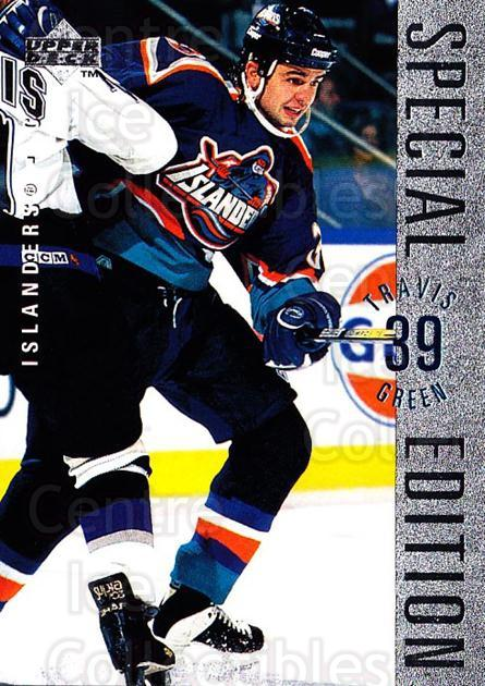 1995-96 Upper Deck Special Edition #138 Travis Green<br/>4 In Stock - $1.00 each - <a href=https://centericecollectibles.foxycart.com/cart?name=1995-96%20Upper%20Deck%20Special%20Edition%20%23138%20Travis%20Green...&quantity_max=4&price=$1.00&code=45885 class=foxycart> Buy it now! </a>