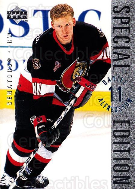 1995-96 Upper Deck Special Edition #145 Daniel Alfredsson<br/>4 In Stock - $1.00 each - <a href=https://centericecollectibles.foxycart.com/cart?name=1995-96%20Upper%20Deck%20Special%20Edition%20%23145%20Daniel%20Alfredss...&quantity_max=4&price=$1.00&code=45893 class=foxycart> Buy it now! </a>