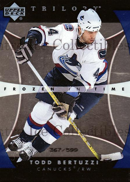 2005-06 UD Trilogy #154 Todd Bertuzzi<br/>1 In Stock - $5.00 each - <a href=https://centericecollectibles.foxycart.com/cart?name=2005-06%20UD%20Trilogy%20%23154%20Todd%20Bertuzzi...&quantity_max=1&price=$5.00&code=459567 class=foxycart> Buy it now! </a>