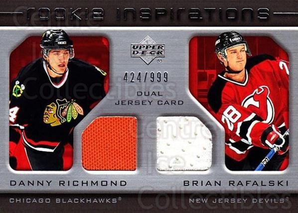 2005-06 Upper Deck Rookie Update #202 Danny Richmond, Brian Rafalski<br/>1 In Stock - $10.00 each - <a href=https://centericecollectibles.foxycart.com/cart?name=2005-06%20Upper%20Deck%20Rookie%20Update%20%23202%20Danny%20Richmond,...&quantity_max=1&price=$10.00&code=459622 class=foxycart> Buy it now! </a>