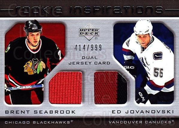 2005-06 Upper Deck Rookie Update #203 Brent Seabrook, Ed Jovanovski<br/>1 In Stock - $15.00 each - <a href=https://centericecollectibles.foxycart.com/cart?name=2005-06%20Upper%20Deck%20Rookie%20Update%20%23203%20Brent%20Seabrook,...&quantity_max=1&price=$15.00&code=459623 class=foxycart> Buy it now! </a>
