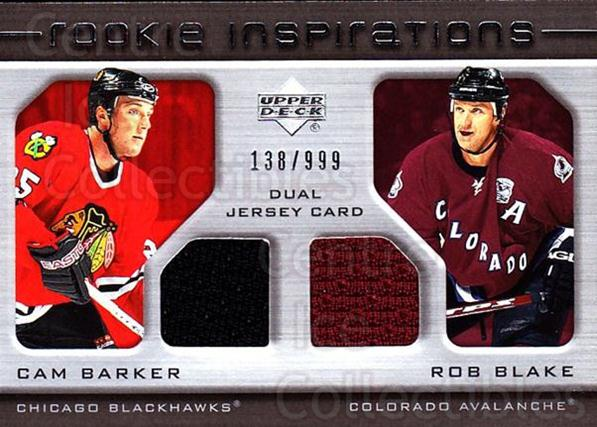 2005-06 Upper Deck Rookie Update #204 Cam Barker, Rob Blake<br/>1 In Stock - $10.00 each - <a href=https://centericecollectibles.foxycart.com/cart?name=2005-06%20Upper%20Deck%20Rookie%20Update%20%23204%20Cam%20Barker,%20Rob...&quantity_max=1&price=$10.00&code=459624 class=foxycart> Buy it now! </a>