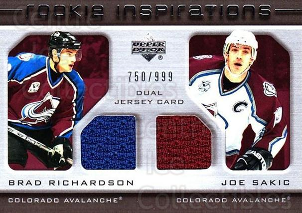 2005-06 Upper Deck Rookie Update #206 Brad Richardson, Joe Sakic<br/>1 In Stock - $15.00 each - <a href=https://centericecollectibles.foxycart.com/cart?name=2005-06%20Upper%20Deck%20Rookie%20Update%20%23206%20Brad%20Richardson...&quantity_max=1&price=$15.00&code=459626 class=foxycart> Buy it now! </a>