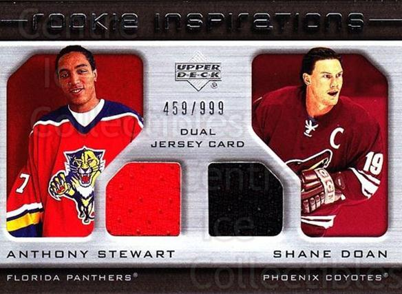 2005-06 Upper Deck Rookie Update #211 Anthony Stewart, Shane Doan<br/>1 In Stock - $10.00 each - <a href=https://centericecollectibles.foxycart.com/cart?name=2005-06%20Upper%20Deck%20Rookie%20Update%20%23211%20Anthony%20Stewart...&quantity_max=1&price=$10.00&code=459631 class=foxycart> Buy it now! </a>
