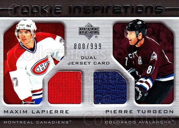 2005-06 Upper Deck Rookie Update #214 Maxim Lapierre, Pierre Turgeon<br/>1 In Stock - $10.00 each - <a href=https://centericecollectibles.foxycart.com/cart?name=2005-06%20Upper%20Deck%20Rookie%20Update%20%23214%20Maxim%20Lapierre,...&quantity_max=1&price=$10.00&code=459634 class=foxycart> Buy it now! </a>