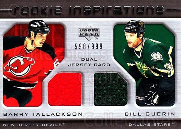 2005-06 Upper Deck Rookie Update #217 Barry Tallackson, Bill Guerin<br/>2 In Stock - $10.00 each - <a href=https://centericecollectibles.foxycart.com/cart?name=2005-06%20Upper%20Deck%20Rookie%20Update%20%23217%20Barry%20Tallackso...&quantity_max=2&price=$10.00&code=459637 class=foxycart> Buy it now! </a>