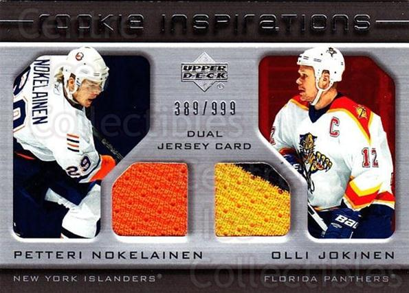 2005-06 Upper Deck Rookie Update #218 Petteri Nokelainen, Olli Jokinen<br/>1 In Stock - $10.00 each - <a href=https://centericecollectibles.foxycart.com/cart?name=2005-06%20Upper%20Deck%20Rookie%20Update%20%23218%20Petteri%20Nokelai...&quantity_max=1&price=$10.00&code=459638 class=foxycart> Buy it now! </a>
