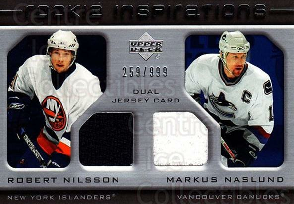 2005-06 Upper Deck Rookie Update #219 Robert Nilsson, Markus Naslund<br/>1 In Stock - $10.00 each - <a href=https://centericecollectibles.foxycart.com/cart?name=2005-06%20Upper%20Deck%20Rookie%20Update%20%23219%20Robert%20Nilsson,...&quantity_max=1&price=$10.00&code=459639 class=foxycart> Buy it now! </a>