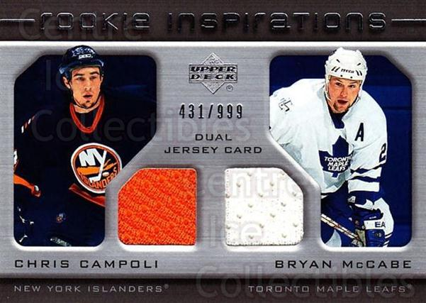 2005-06 Upper Deck Rookie Update #220 Chris Campoli, Bryan McCabe<br/>1 In Stock - $10.00 each - <a href=https://centericecollectibles.foxycart.com/cart?name=2005-06%20Upper%20Deck%20Rookie%20Update%20%23220%20Chris%20Campoli,%20...&quantity_max=1&price=$10.00&code=459640 class=foxycart> Buy it now! </a>
