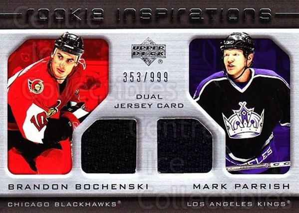 2005-06 Upper Deck Rookie Update #223 Brandon Bochenski, Mark Parrish<br/>1 In Stock - $10.00 each - <a href=https://centericecollectibles.foxycart.com/cart?name=2005-06%20Upper%20Deck%20Rookie%20Update%20%23223%20Brandon%20Bochens...&quantity_max=1&price=$10.00&code=459643 class=foxycart> Buy it now! </a>