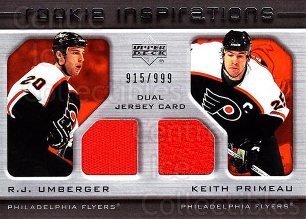 2005-06 Upper Deck Rookie Update #225 RJ Umberger, Keith Primeau<br/>1 In Stock - $10.00 each - <a href=https://centericecollectibles.foxycart.com/cart?name=2005-06%20Upper%20Deck%20Rookie%20Update%20%23225%20RJ%20Umberger,%20Ke...&quantity_max=1&price=$10.00&code=459645 class=foxycart> Buy it now! </a>