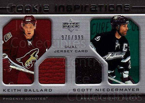 2005-06 Upper Deck Rookie Update #226 Keith Ballard, Scott Niedermayer<br/>1 In Stock - $10.00 each - <a href=https://centericecollectibles.foxycart.com/cart?name=2005-06%20Upper%20Deck%20Rookie%20Update%20%23226%20Keith%20Ballard,%20...&quantity_max=1&price=$10.00&code=459646 class=foxycart> Buy it now! </a>