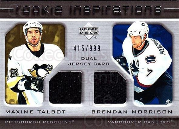 2005-06 Upper Deck Rookie Update #228 Maxime Talbot, Brendan Morrison<br/>1 In Stock - $10.00 each - <a href=https://centericecollectibles.foxycart.com/cart?name=2005-06%20Upper%20Deck%20Rookie%20Update%20%23228%20Maxime%20Talbot,%20...&quantity_max=1&price=$10.00&code=459648 class=foxycart> Buy it now! </a>