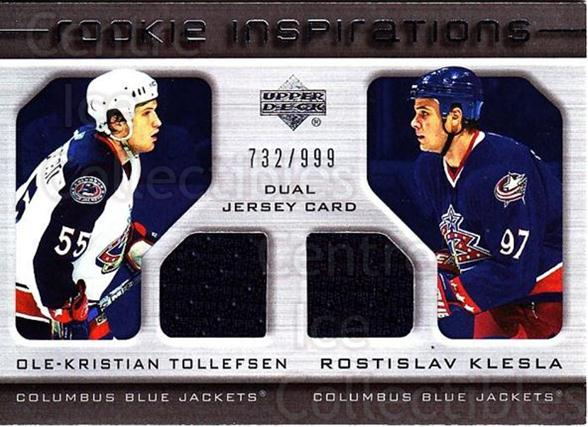 2005-06 Upper Deck Rookie Update #241 Ole-Kristian Tollefsen, Rostislav Klesla<br/>1 In Stock - $10.00 each - <a href=https://centericecollectibles.foxycart.com/cart?name=2005-06%20Upper%20Deck%20Rookie%20Update%20%23241%20Ole-Kristian%20To...&quantity_max=1&price=$10.00&code=459661 class=foxycart> Buy it now! </a>